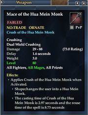 Mace of the Hua Mein Monk