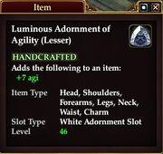 Luminous Adornment of Agility (Lesser)