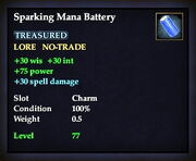 Sparking Mana Battery