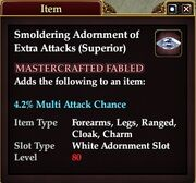 Smoldering Adornment of Extra Attacks (Superior)