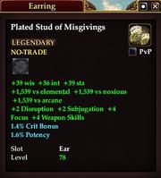 Plated Stud of Misgivings