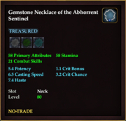 Gemstone Necklace of the Abhorrent Sentinel