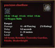 Precision shortbow