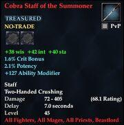 Cobra Staff of the Summoner
