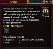 Ironforge negotiator shirt