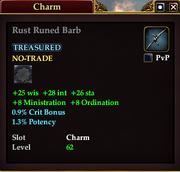 Rust Runed Barb