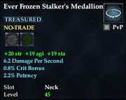 Ever Frozen Stalker's Medallion