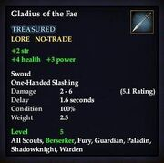 Gladius of the Fae