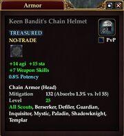 Keen Bandit's Chain Helmet