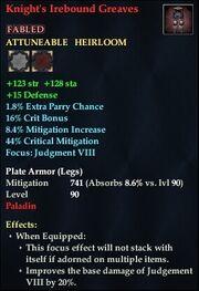 Knight's Irebound Greaves