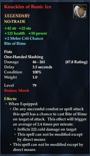 Knuckles of Runic Ice