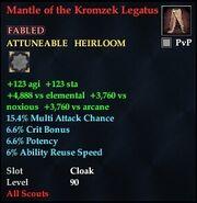 Mantle of the Kromzek Legatus