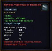 Silvered Vambraces of Ethernere