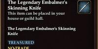 The Legendary Embalmer's Skinning Knife