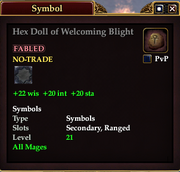 Hex Doll of Welcoming Blight