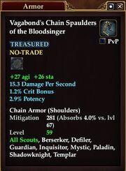 Vagabond's Chain Spaulders of the Bloodsinger