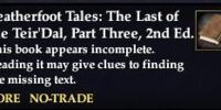 Leatherfoot Tales: The Last of the Teir'Dal, Part Three, 2nd Ed. (Quest Starter)