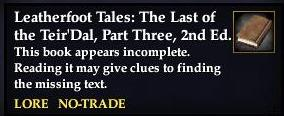 File:Leatherfoot Tales- The Last of the Teir'Dal, Part Three, 2nd Ed. (Quest Starter).jpg