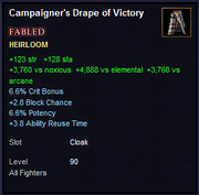 Campaigner's Drape of Victory