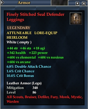 Finely Stitched Seal Defender Leggings