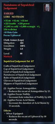 Pantaloons of Sepulchral Judgement