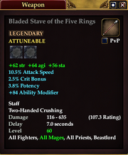 Bladed Stave of the Five Rings