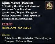 Djinn Master (Warden)
