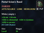 Portal Scion's Band