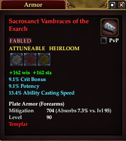 Sacrosanct Vambraces of the Exarch