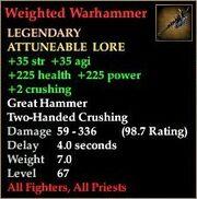 Weighted Warhammer