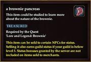 A brownie pancreas