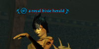 A royal bixie herald