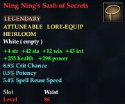 Ning Ning's Sash of Secrets