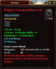 Prophet's Jaundiced Bone Coif