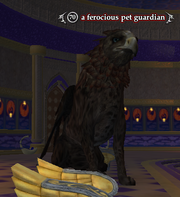 A ferocious pet guardian