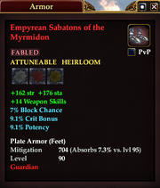Empyrean Sabatons of the Myrmidon