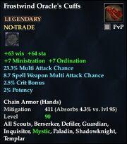 Frostwind Oracle's Cuffs