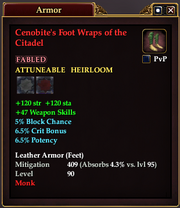 Cenobite's Foot Wraps of the Citadel