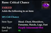 Rune- Critical Chance