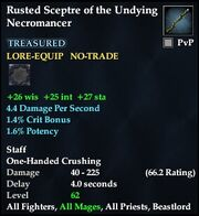 Rusted Sceptre of the Undying Necromancer