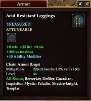 Acid Resistant Leggings
