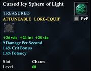 Cursed Icy Sphere of Light