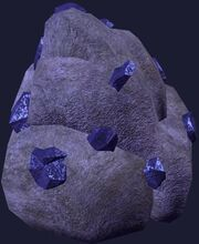 Amethyst stone cluster (Visible)