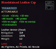 Bloodstained Leather Cap