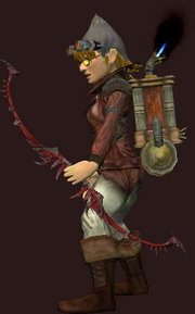 Deadly Bloodiron Bow of Rending (Equipped)