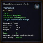 Durable Leggings of Worth