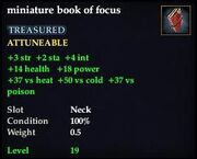 Miniature book of focus