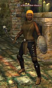 A Bloodsaber ritualist (human)