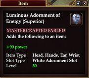 Luminous Adornment of Energy (Superior)