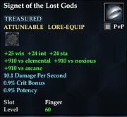 Signet of the Lost Gods